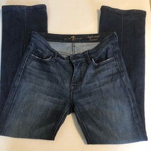 7 for all mankind high waist bootcut jeans size 28